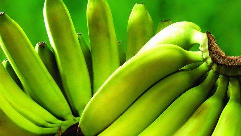 Банан, фрукты, травы