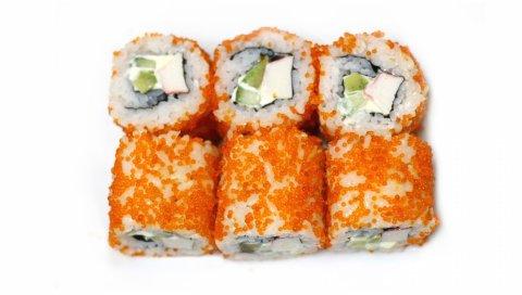 Суши, белые, яйца, сыр