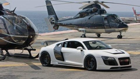Audi, авто, автомобиль, вертолет, стиль