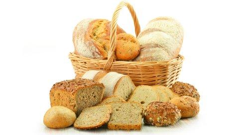 Корзина, хлеб, пирожные, ломтики, кексы, буханка