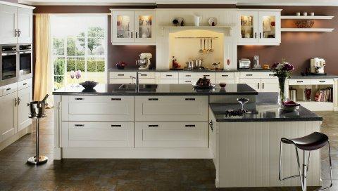 интерьер, дизайн, стиль, дом, дом, комната, кухня