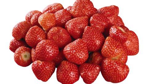 ягоды, клубника, многие, спелый