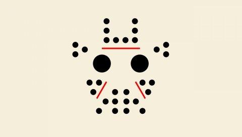 Точки, круги, линии, узор, минимализм, маска, jason, стиль