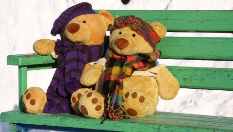 Ситуация, прогулки, медведи, пара, знакомства, любовь