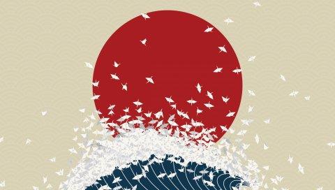 Минимализм, оригами, Япония,