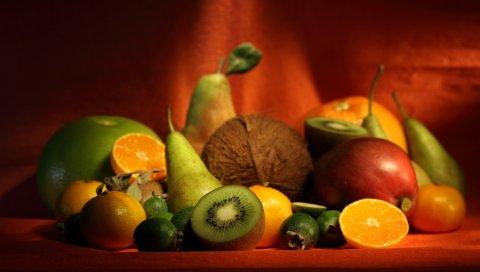 ягоды, бананы, фрукты, аппетит