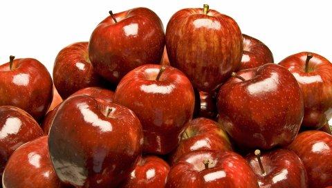 много, красный, фрукты, яблоки
