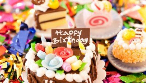 торт, день рождения, сладкие