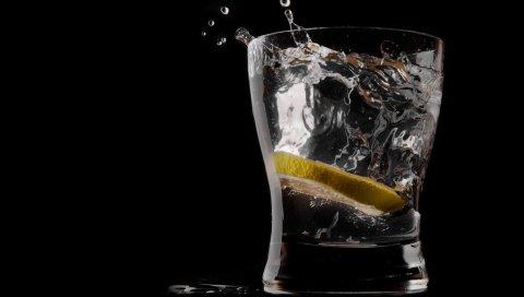 лимон , лед, напиток
