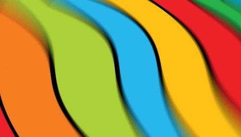 линии, полосы, яркие, цвета