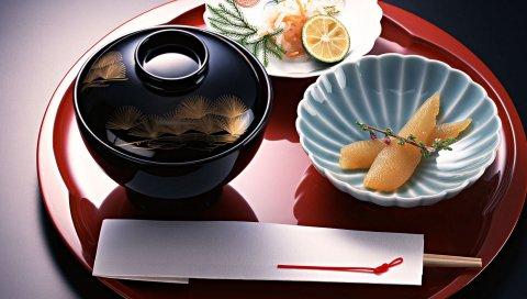 Суп, рыба, морепродукты, тарелка