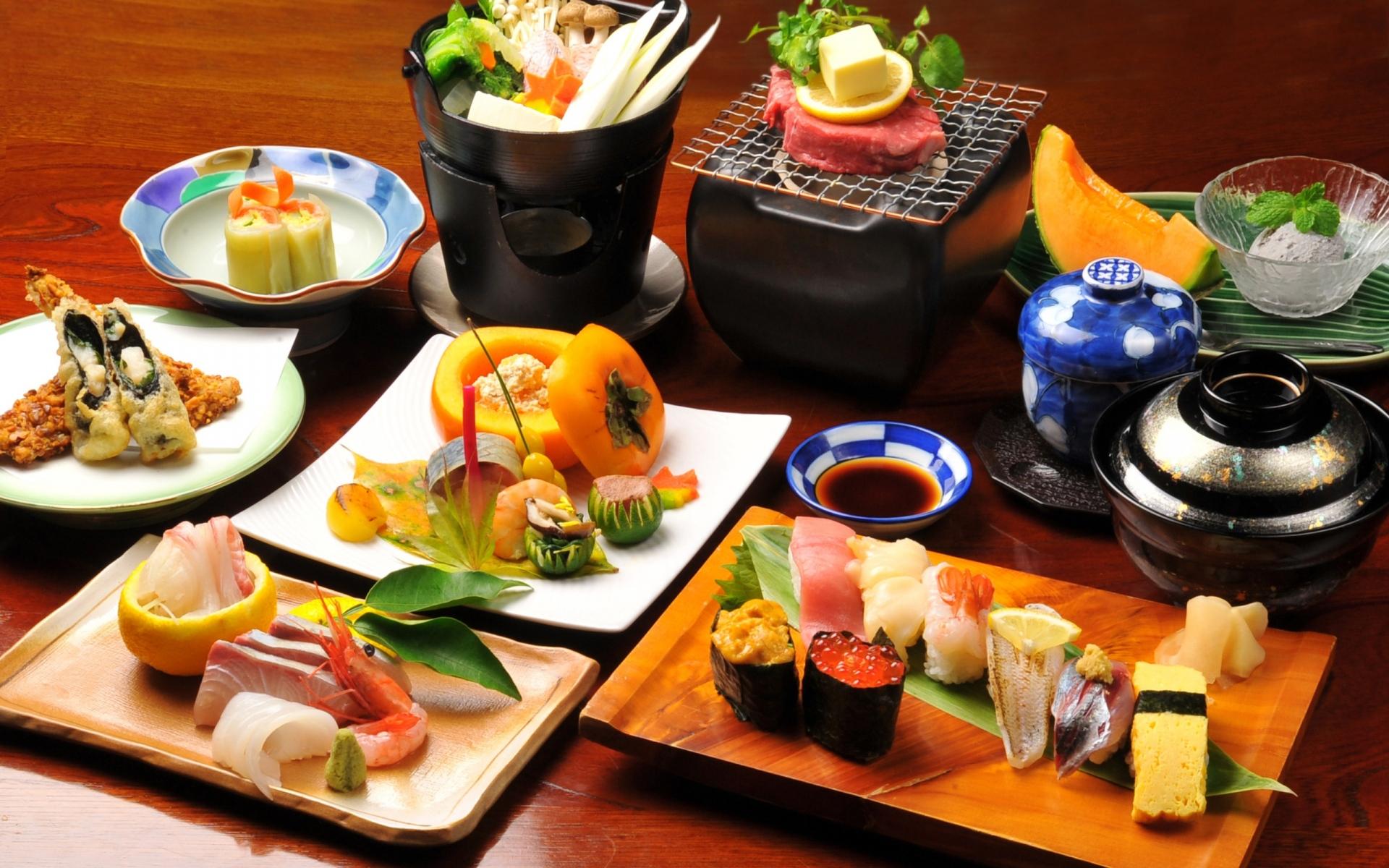 Картинки Булочки, суши, японская еда, фрукты, овощи фото и обои на рабочий стол