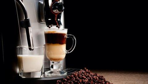Кофе, кофеварка, зерно