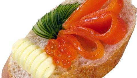Сэндвич, мясо, рыба, зелень, яйца