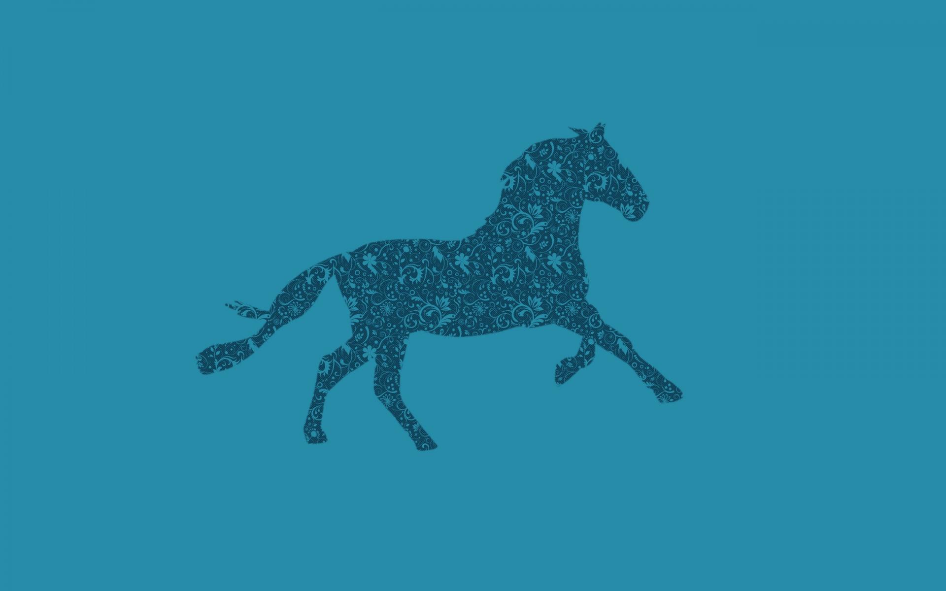 Картинки Лошадь, рисунок, фон, узоры фото и обои на рабочий стол