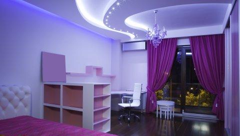 Комната, освещение, приятный, уютный