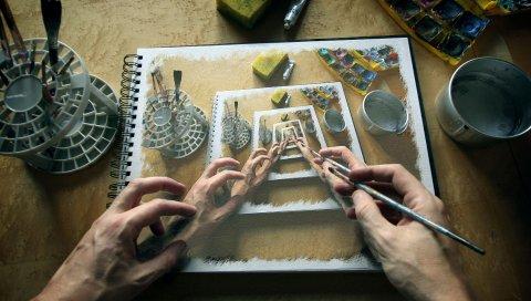 Рука, рисунок, воображение