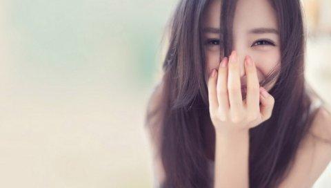 Девушка, улыбаясь, счастливый, лицо