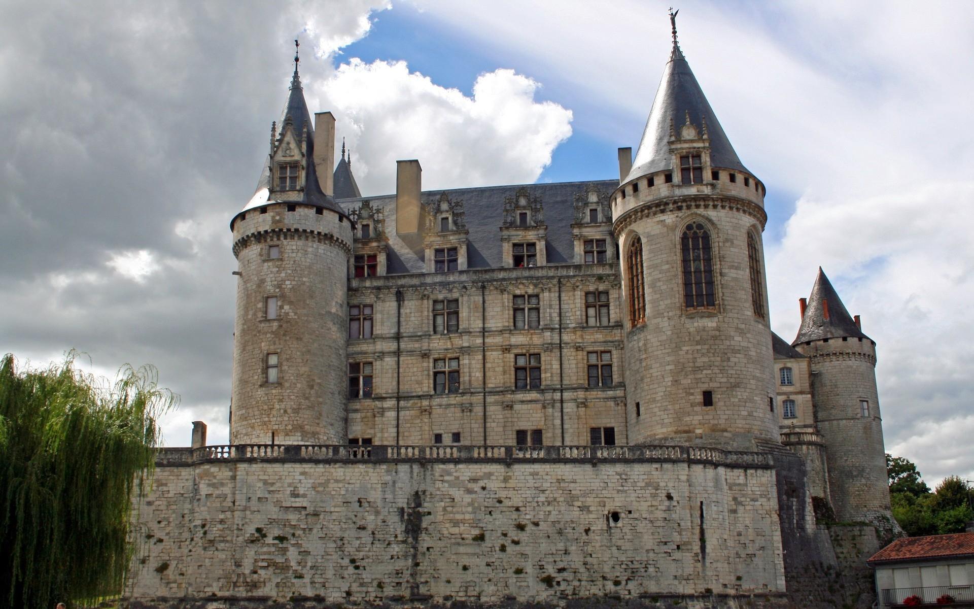 Картинки Франция, замок, здание, старый фото и обои на рабочий стол