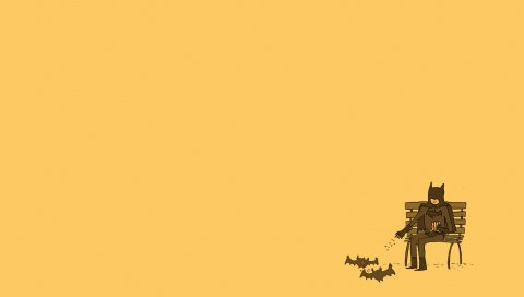 Бэтмен, минимализм, комиксы