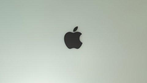 Яблоко, макро, бренд, фон, твердый
