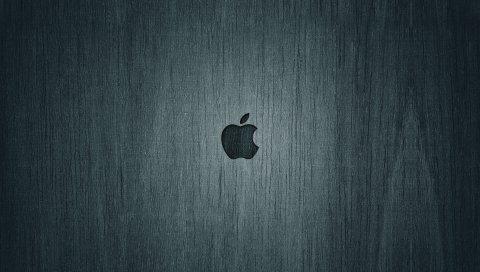 Яблоко, макро, фон, черный, бренд, логотип
