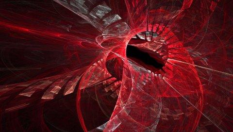 Фон, круг, красный, яркий