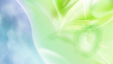 Линия, свет, зеленый, белый