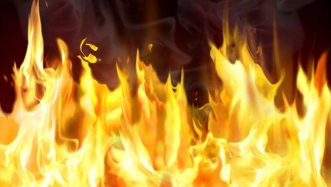 Огонь, пламя, фон, линии, яркие