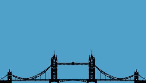Мост, Лондон, графика, минимализм