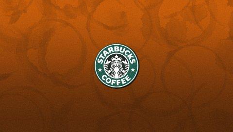 Starbucks, напиток, кофе, логотип, фирма
