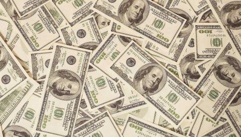 Деньги, доллары, векселя, фон, поверхность