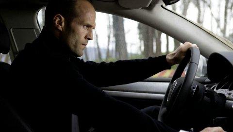 Джейсон Стэтхэм , автомобиль, рулевое колесо, движение, актер