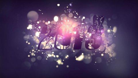 новый год, цифры, мелькающие, праздник