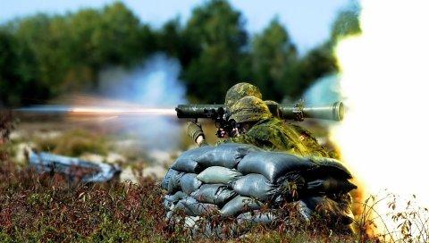 Солдаты, война, трава, оружие, маскировка, атака