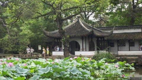 Китай, завод, помещение, мебель, архитектура