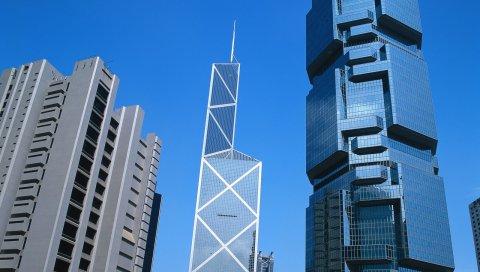 Hong kong, здания, небоскребы, архитектура