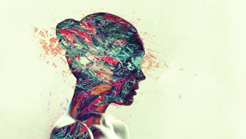 Лицо, профиль, цвет, свет, яркий