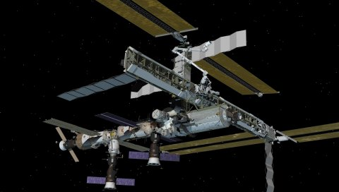 Станция, солнце, звезды, космос, исследование