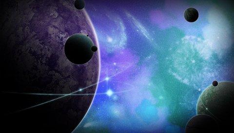 Планета, много, галактика, вселенная, мир