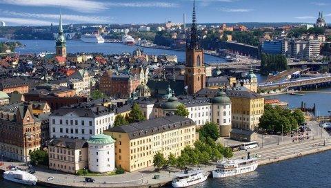 Стокгольм, Швеция, церковь риддархольмен