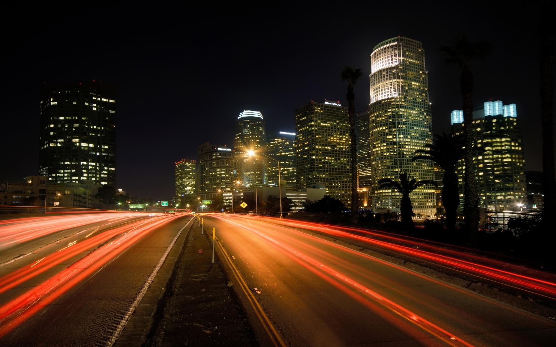 Картинки город ночь огни