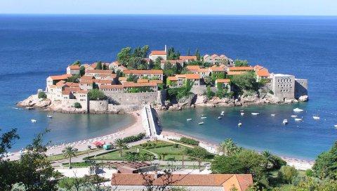 Черногория, Свети Стефан, остров-отель Адриатика, отдых, туризм, путешествия