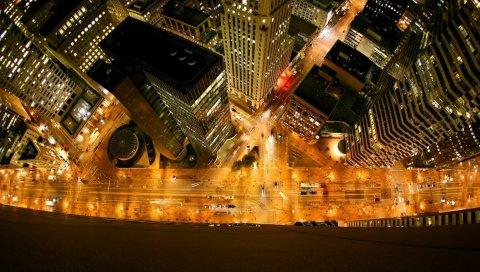 Люди, автомобили, дом, вид сверху, небоскреб