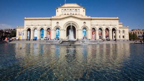армения, город, ереван, музей, площадь