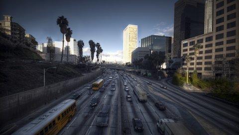 Лос-Анджелес, город, пейзаж, калифорния