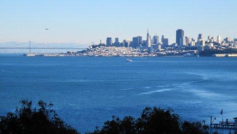 Калифорния, море, здания, побережье