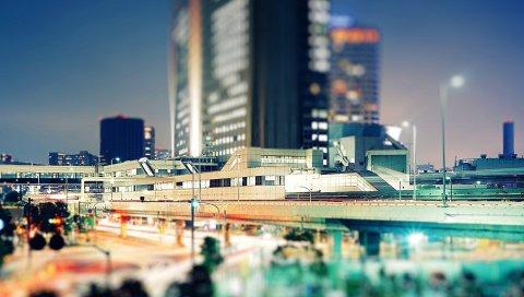 Здания, дома, окна, жизнь, мегаполис