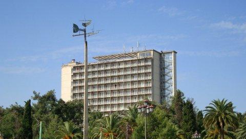 Абхазия, пицунда, пансионат, апсний, кавказ, пальмы, набережная