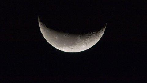Луна, космос, спутник, bw
